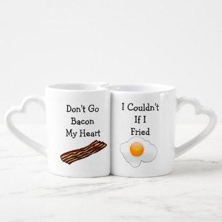 Går inte bacon min hjärta rolig V2 Hjärtformade Koppar