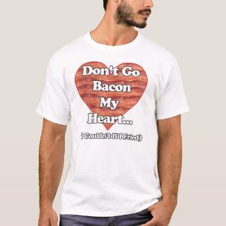 Går inte bacon min hjärta t shirt