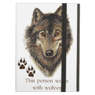 Går med logotypen för huvudet för vargen för vargc fodral för iPad air