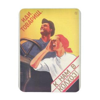 "Går med sovjetisk konst för vintage ""vår magnet"