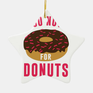Går nöt för Donuts Julgransprydnad Keramik