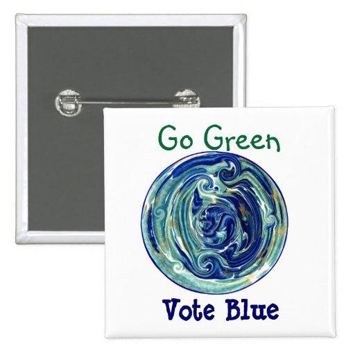 Går röstar grönt, blått som politiska Eco knäppas Knappar