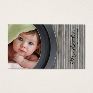 Garage för staket för fotografivisitkortmetall visitkort