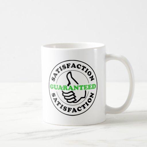 Garanterad tillfredsställelse kaffe koppar