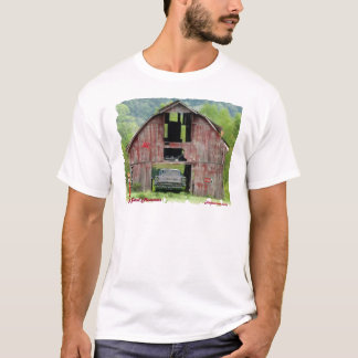 gårdminnen för ladugård 57Chevy T-shirts