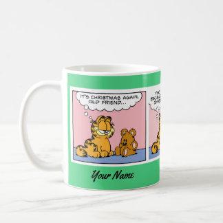 """""""Garfield för en julgåva"""" mugg för komisk remsa"""