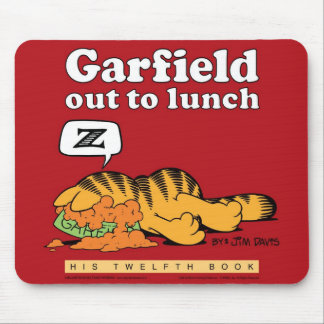 Garfield ut som äter lunch Mousepad Musmattor