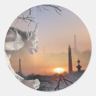Gargoyle av Notre Dame Runt Klistermärke