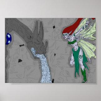 Gargoylen och fen poster