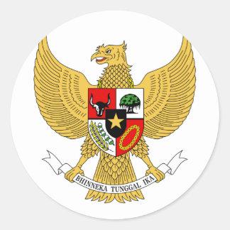 Garuda Pancasila, t beväpnar Indonesien, Runt Klistermärke
