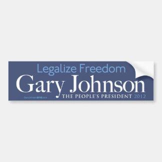 Gary Johnson legaliseraa frihetsbildekal Bildekal
