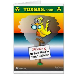 Gas kan kanariefågeln hälsningskort