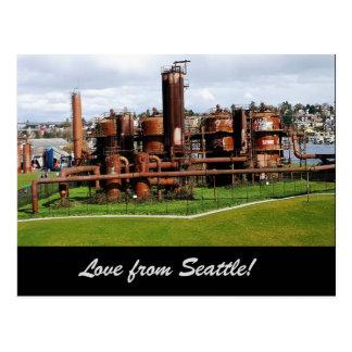Gasa arbeten parkerar den Seattle vykortet Vykort