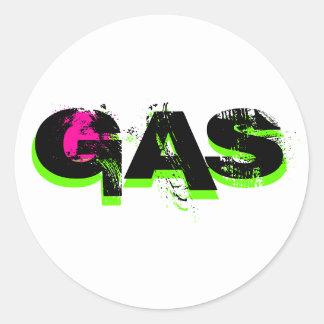 GASA, GASA, GASA RUND KLISTERMÄRKE