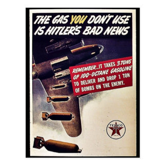 Gasa som du inte använder, är Hitlers dåliga Vykort