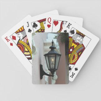 Gasbelysning antikvitet, vintage, svart, fotografi spelkort