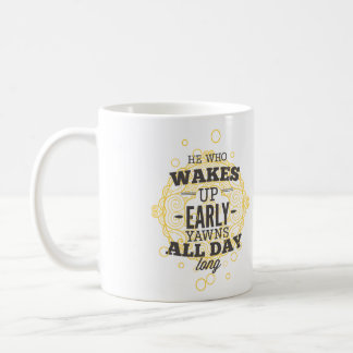 Gäspning Kaffemugg