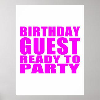Gäster: Födelsedaggästredo som festar Affischer