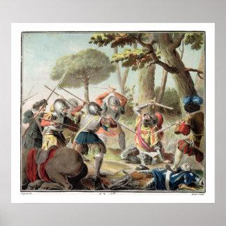 Gaston de Foix (1488-1512) som dräpas på striden a Poster