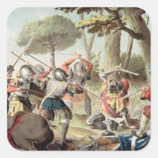 Gaston de Foix (1488-1512) som dräpas på striden Fyrkantigt Klistermärke