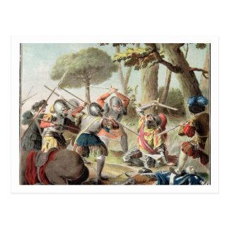 Gaston de Foix (1488-1512) som dräpas på striden Vykort