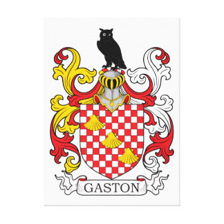 Gaston familjvapensköld canvastryck
