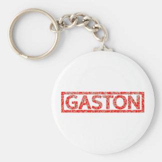 Gaston frimärke rund nyckelring