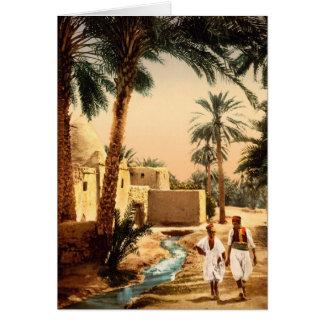 Gata i den gammala townen, Biskra, Algeriet, Hälsningskort