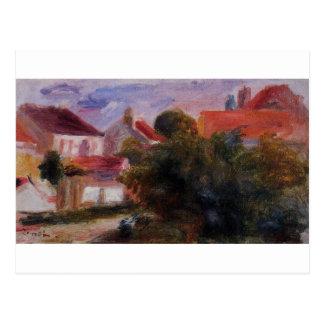 Gata i Essoyes vid Pierre-Auguste Renoir Vykort