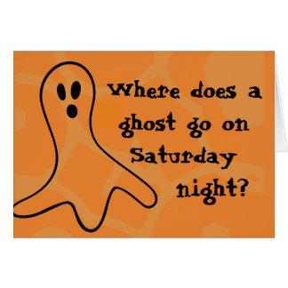 GåtaHalloween spöke Hälsningskort