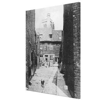 Gataplats i victorianen London Canvastryck