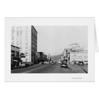 Gataplatsen i Aberdeen, WA fotograferar Hälsningskort