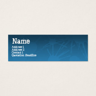 GATASPLATTERblått Litet Visitkort