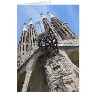 Gaudi domkyrka, Barcelona Spanien Hälsningskort