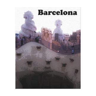 """Gaudi La Pedrera """"stenvillebråd"""" Barcelona Canvastryck"""