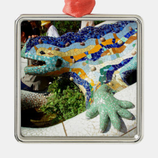 Gaudi ödlamosaik julgransprydnad metall