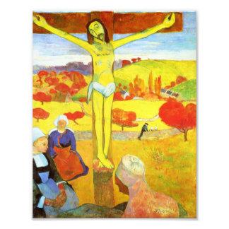 Gauguin gult Kristustryck Fototryck