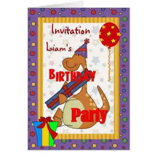 Gåva för Dinosour födelsedagsfestpojke Hälsningskort