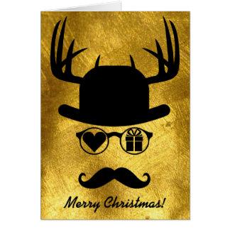 Gåva för god julhälsningmustasch hälsningskort