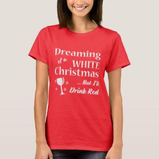 Gåva för jul för Tshirt | för vin för vitjul | T-shirts