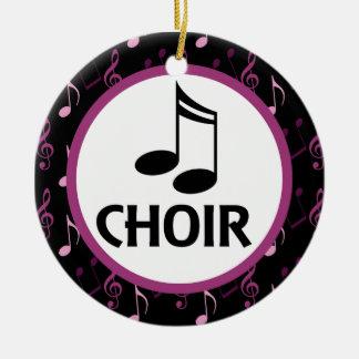Gåva för körmusik noterprydnad julgransprydnad keramik