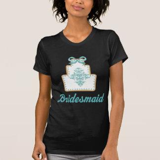 Gåva för möhippa för brudtärnabröllopstårtakaka t shirts