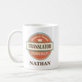 Gåva för mugg för översättarepersonligkontor