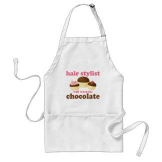 Gåva för ockupation för chokladhårstylist förkläde