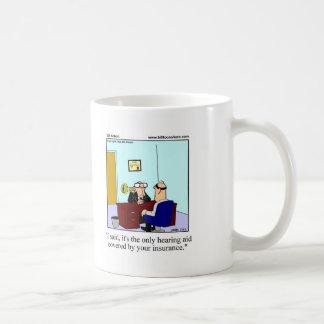Gåva för sjukförsäkringhumormugg kaffemugg