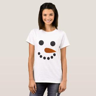 Gåva för skjorta för jul för snögubbevinterhelgdag tee shirts