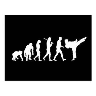 Gåva för utbildning för KarateälskareDojo Vykort