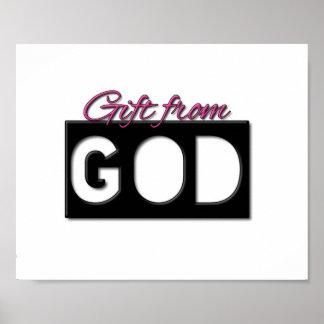 Gåva från för flickasovrum för gud (rosa) affische poster