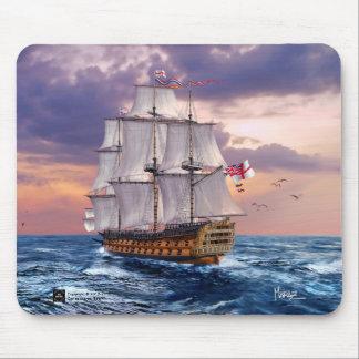 Gåva Mousepads för målning för HMS-segerflaggskepp Musmatta