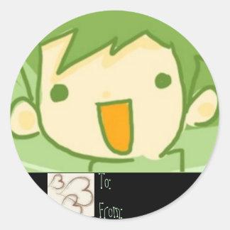 Gåvaetikett för en cutie runt klistermärke